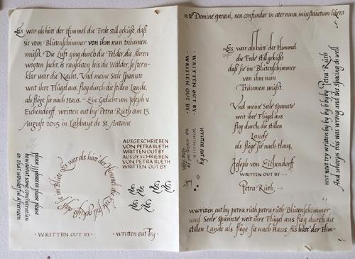 Calligraphy Class Scrap Paper 1