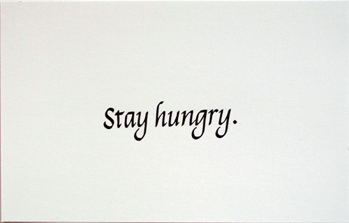 Diptychon Italic Stay Hungry