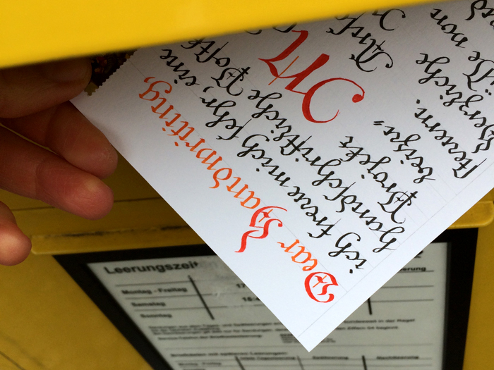 dear handwriting, mail