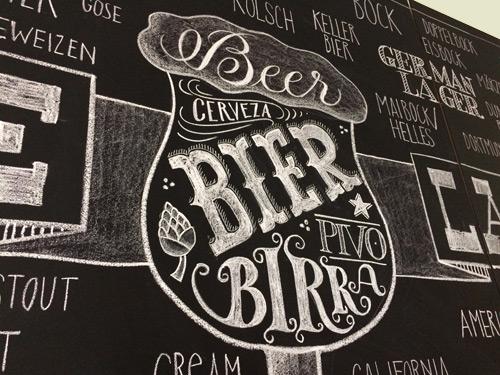 Hops Tafelbeschriftung Bier Titel