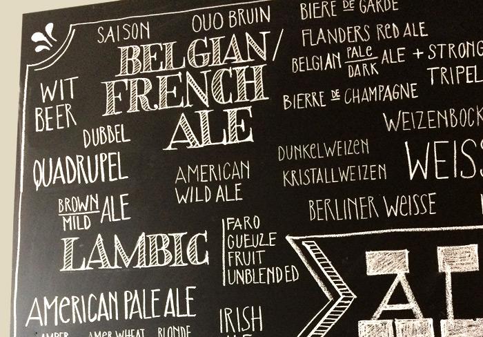 Hops Tafelbeschriftung Bier Detail