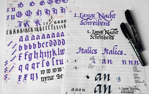 NachtDesSchreibens Schreibvorlage Skizze