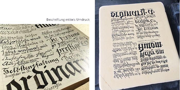 Werkstattkurs Lithographie Tusche Umdruck in Process