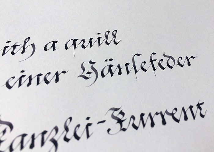 Quills Feder Kanzlei-Kurrent Detail