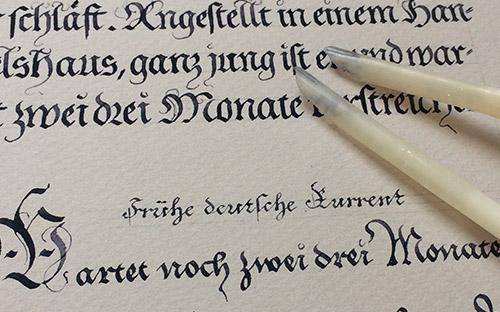 Schriftenposter Reloaded Quills