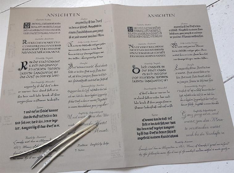 Schriftenposter Reloaded Full Sheet