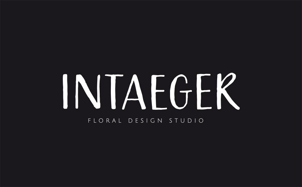 Intaeger Logo auf schwarz