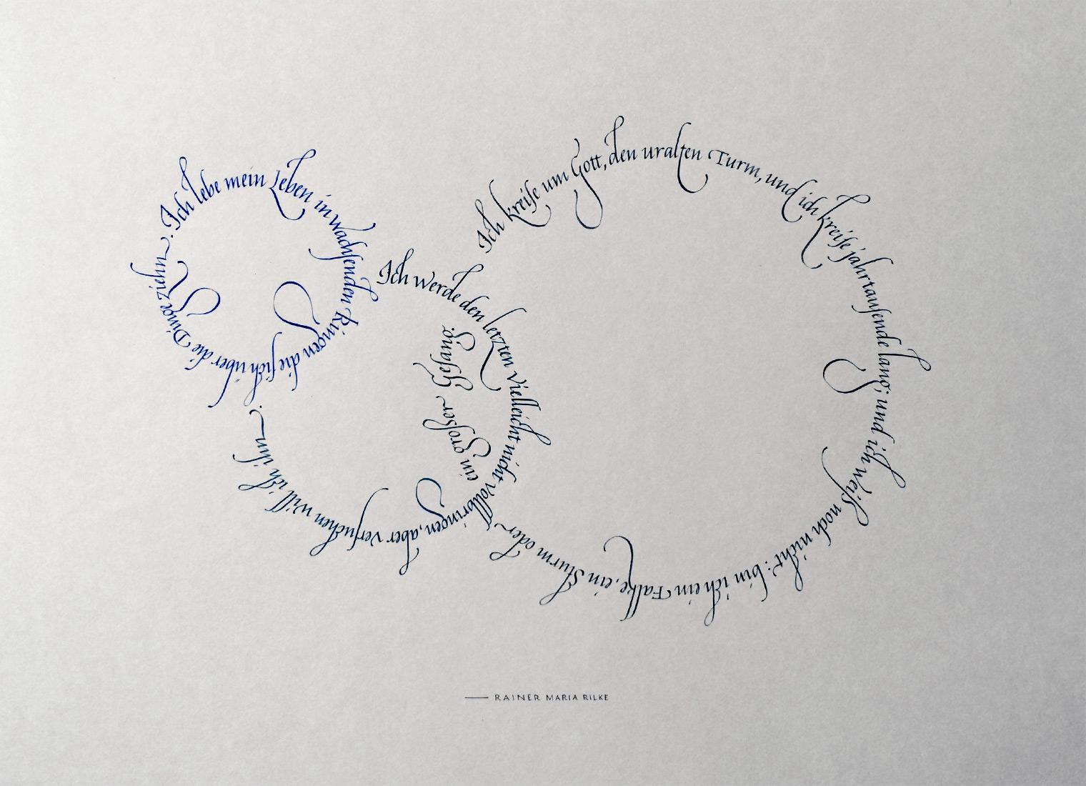 Kreise Rilke Gedicht komplett