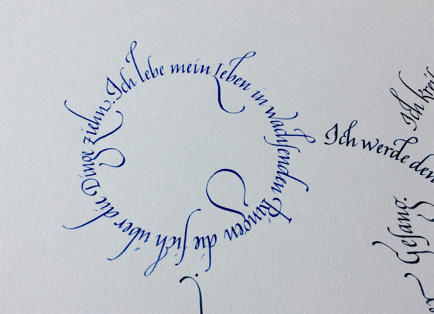Kreise Rilke Gedicht Detail